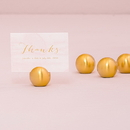 Weddingstar 6071-55 Classic Round Place Card Holder - Gold