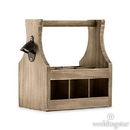 Weddingstar 7000 Wooden Beer Bottle Caddy with Opener