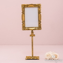 Weddingstar 7107-55 Rectangular Baroque Standing Frame - Gold