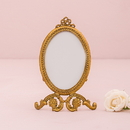 Weddingstar 7111-55 Small Oval Baroque Frame - Gold