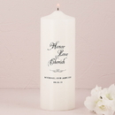 Weddingstar 7205-79 Honor Love Cherish Personalized Unity Candle Ivory