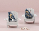 Weddingstar 8414 White Deck Chair Favor Candle Holders (4)