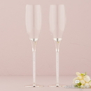 Weddingstar 8433 Wedding Champagne Glasses with Glass Gems in Stem