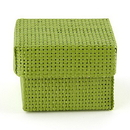Weddingstar 8546-51 Natural Woven Favor Boxes With Lids - Grass Green (6)