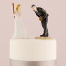 Weddingstar 8663 Baseball Wedding Cake Topper - Hit a Home Run - Bride at Home Base Ready to