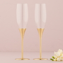 Weddingstar 8702 Gold Wedding Champagne Glasses with Crystal Gems