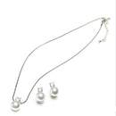 Weddingstar 8752 White Pearl with Crystal Jewelry - Necklace Only