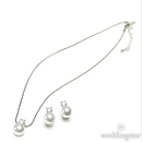 Weddingstar 8753 White Pearl with Crystal Jewelry Earrings