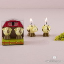 Weddingstar 8770 Miniature Cow Candles in Novelty Barn Gift Box