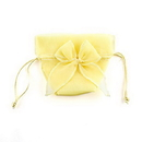 Weddingstar 9074-09 Organza Drawstring Favor Bags with Bow - Lemon Yellow
