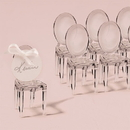 Weddingstar 9083 Miniature Clear Acrylic Phantom Chairs (8)