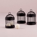 Weddingstar 9119 Small Black Birdcage Favor Containers (4)