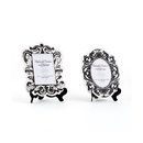 Weddingstar 9141-10 4 Baroque Paper Frames with Table Easels - Small Black And White