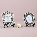 Weddingstar 9142-10 Baroque Paper Frames with Table Easel - Large Black And White