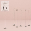 Weddingstar 9171 Silver Table Number Holder with Tiered Base (6)