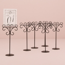 Weddingstar 9189 Ornamental Wire Stationery Holders Tall - Black (6)