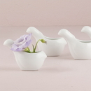Weddingstar 9203 Small White Ceramic Bird Favor Container