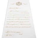 Weddingstar 9299-P-1188-47 Parisian Love Letter Personalized Aisle Runner - Plain White