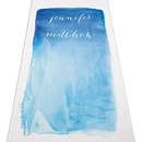Weddingstar 9299-P-1193-47 Aqueous Personalized Aisle Runner - Plain White