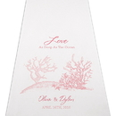 Weddingstar 9301-P-1070-47 Reef Coral Personalized Aisle Runner - White With Hearts