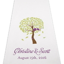 Weddingstar 9301-P-8986-47 Love Bird Tree Personalized Aisle Runner - White With Hearts