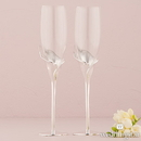 Weddingstar 9308 Silver Calla Lily Stemmed Wedding Champagne Flutes