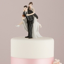 Weddingstar 9316 Football Piggy Back Bride and Groom Cake Topper Dark Skin Tone