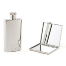 Weddingstar 9343 Hip Flask And Compact Mirror Gift Set