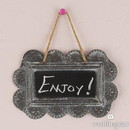 Weddingstar 9360 Small Scalloped Frame Tin Signs with Chalkboard