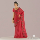 Weddingstar 9474 Traditional Indian Figurine Cake Toppers - Indian Bride in Red Sari - Bride Only