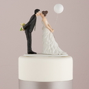 Weddingstar 9476 Leaning in for a Kiss - Balloon Wedding Cake Topper