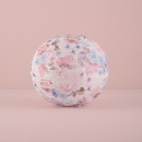 Weddingstar 9508 Round Paper Lantern with Vintage Floral Print - Small