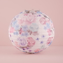 Weddingstar 9509 Round Paper Lantern with Vintage Floral Print - Medium