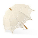 Weddingstar 9534-79 Antiqued Battenburg Lace Parasol Standard Ivory