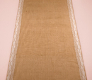 Weddingstar 9536 Burlap Aisle Runner with Delicate Lace Borders