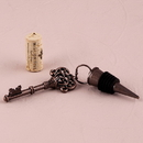 Weddingstar 9545-26 Vintage Key Ornamental Bottle Stopper (4) Chocolate Brown