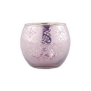 Weddingstar 9550-04 Small Glass Globe Votive Holder With Reflective Lace Pattern (6) - Lavender (6)