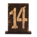 Weddingstar 9563 Rustic Self-Standing Table Number And Holders Numbers 13-18