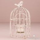 Weddingstar 9580-08 Small Metal Birdcage with Suspended Tealight Holder White