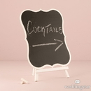 Weddingstar 9589-08 Chalkboard Sign With White Frame - Large White