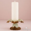 Weddingstar 9606-30 Vintage Inspired Iron Pillar Candle Holder Daiquiri Green