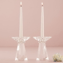 Weddingstar 9615 Dual Purpose Crystal Candle Holder - Low