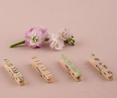 Weddingstar 9626 Vintage Wooden Clothespins with English Garden Pattern
