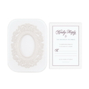 Weddingstar Pearls and Lace Laser Embossed Accessory Cards with Personalization