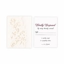 Weddingstar 9652-1270-112-c95 Lace Opulence Laser Embossed Accessory Cards with Personalization Berry