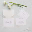 Weddingstar Pearl Romance Laser Embossed Accessory Cards with Personalization