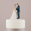 Weddingstar 9697 Contemporary Vintage Bride and Groom Porcelain Figurine Wedding Cake Topper Bride