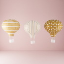 Weddingstar 9703-45 Hot Air Balloon Paper Lantern Set in Gold and White (3) Vintage Gold