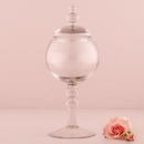 Weddingstar 9713 Decorative Pedestaled Apothecary Jar with Globe Shaped Bowl
