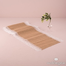 Weddingstar 9717 Natural Burlap Table Runner with Lace Edging (120